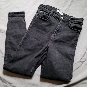 Zara   Denim by TRF Black High Rise Skinny Jeans 8